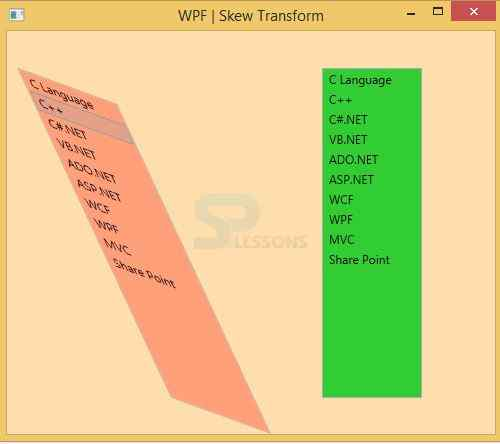 WPF - Layout - SPLessons
