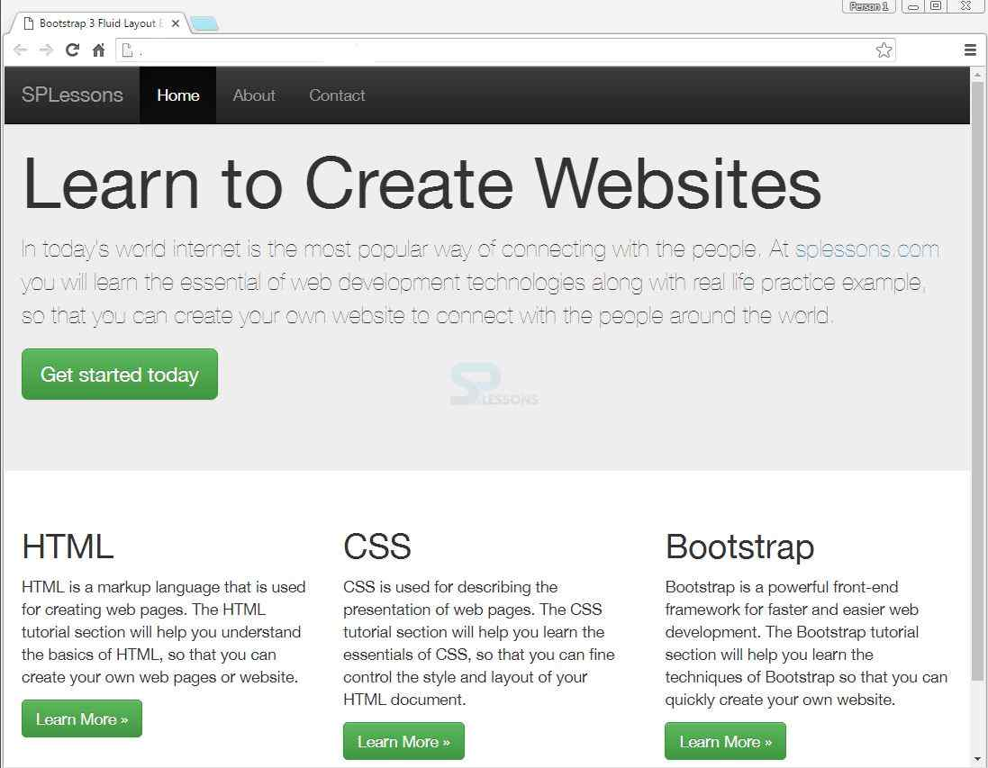 Bootstrap layouts splessons - Div class footer bootstrap ...