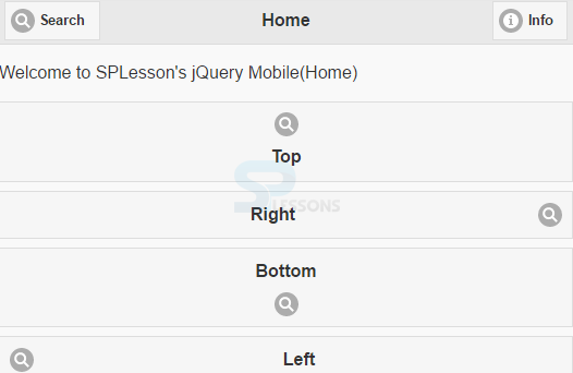 jQuery Mobile Icons - SPLessons