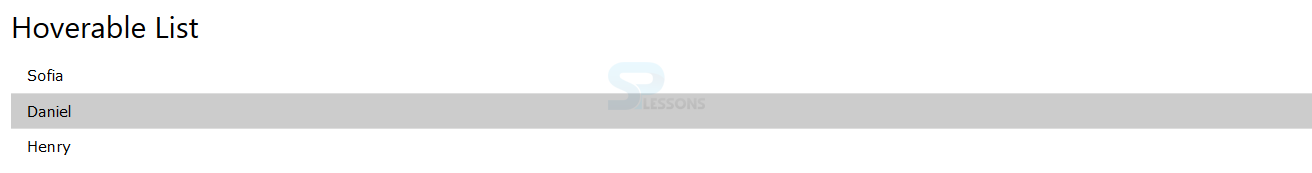 W3css lists splessons - Div class background color ...