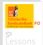 Syndicate Bank PO - SPLessons