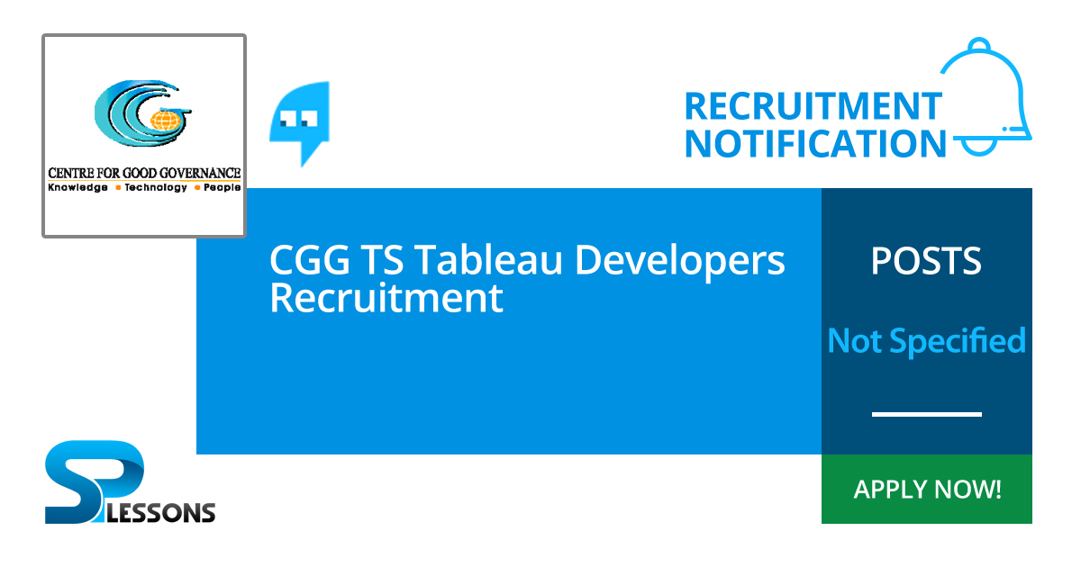 CGG TS Tableau Developers Recruitment